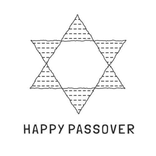 happy passover matzah star of david