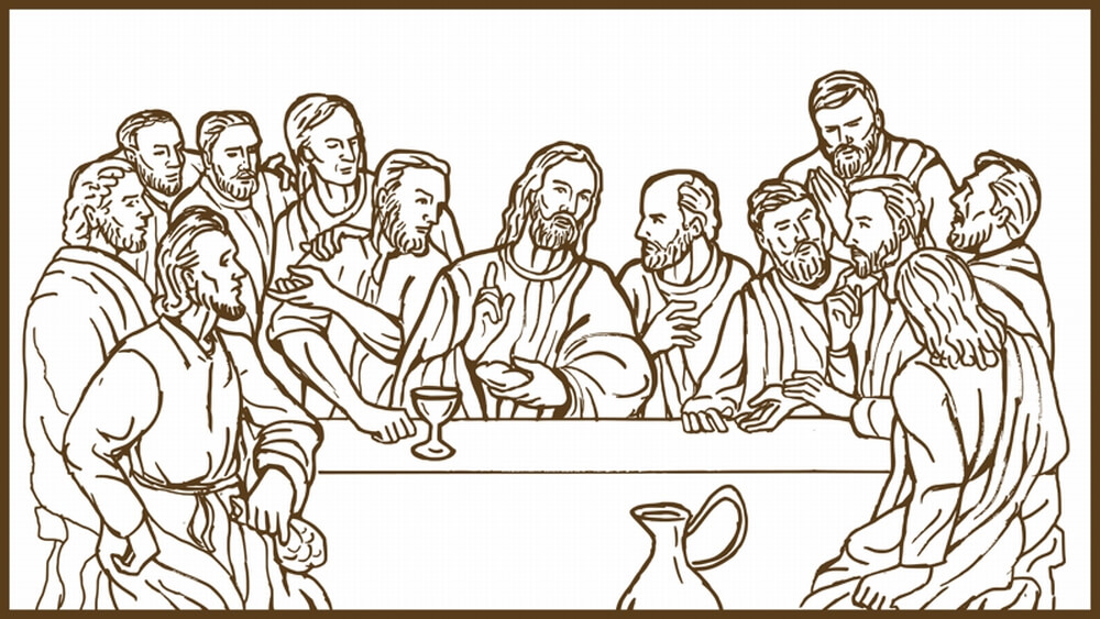 christian last supper of jesus - depicts a passover celebration