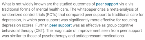 peer-support-rosemary-ku-compare-cbt-meta-analysis-antidepressant-whitepaper-quote
